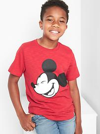 GapKids &#124 Disney Mickey Mouse スラブTシャツ