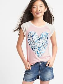 GapKids &#124 Disney Mickey Mouse and Minnie Mouse ベースボールTシャツ