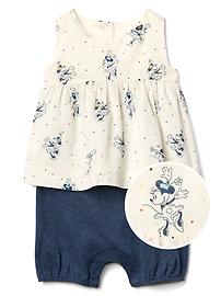 babyGap &#124 Disney Baby Minnie Mouse ダブルレイヤー ショートオール