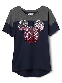 GapKids &#124 Disney Mickey Mouse 装飾ハイローTシャツ