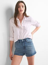 Fitted boyfriend oxford shirt