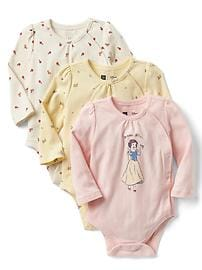 babyGap &#124 Disney Baby Snow White and the Seven Dwarfs ボディスーツ(3枚組)