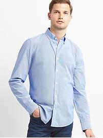 True wash micro stripe slim fit shirt