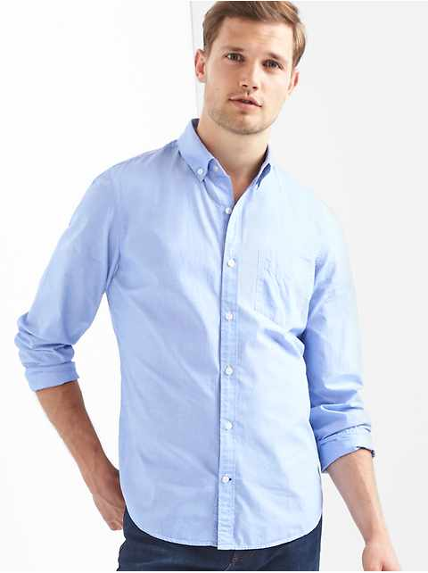 Poplin button-down shirt