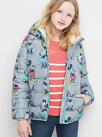 GapKids &#124 Disney Mickey Mouse and Minnie Mouse コージー パファーパーカー