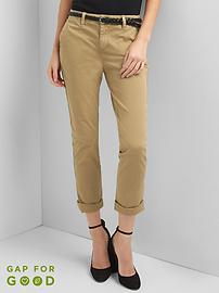 Twill stripe girlfriend chino