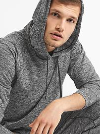 Brushed jersey pullover hoodie