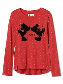 GapKids &#124 Disney Mickey Mouse and Minnie Mouse ハイローTシャツ