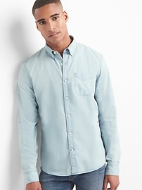 Oxford indigo slim fit shirt