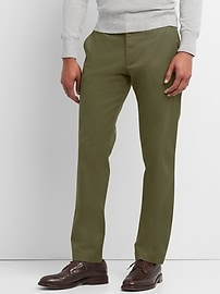 Slim fit stretch khakis
