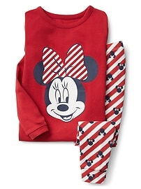 babyGap &#124 Disney Baby Minnie Mouse ストライプ パジャマセット