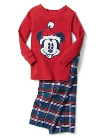 babyGap &#124 Disney Baby Mickey Mouse チェック パジャマセット