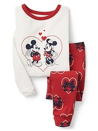 babyGap &#124 Disney Baby Mickey Mouse and Minnie Mouse ハート パジャマセット