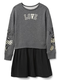 GapKids &#124 Minnie Mouse and Mickey Mouse ミックスファブリック ワンピース