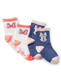 babyGap &#124 Disney Minnie Mouse クルーソックス(2足組)