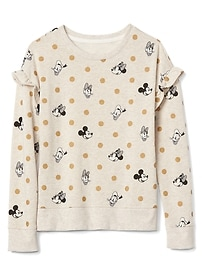 GapKids &#124 Disney Mickey Mouse and Minnie Mouse フリル スウェットシャツ