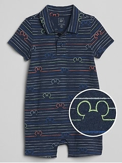 babyGap &#124 Disney Mickey Mouse ショートオール