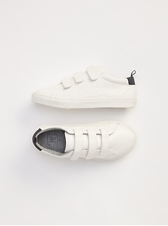 Perforated classic trainers.
