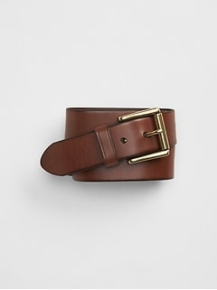 Roller buckle denim belt