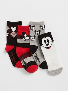 babyGap &#124 Disney Mickey Mouse クルーソックス(4足組)