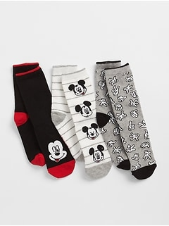 GapKids &#124 Disney Baby Mickey Mouse クルーソックス(3足組)