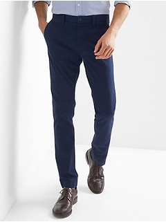Comfort stretch skinny fit khakis