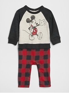 GapKids &#124 Disney Mickey Mouse 2-in-1ボディオール