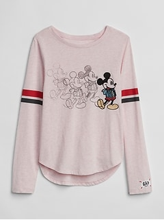 GapKids &#124 Disney Mickey Mouse and Minnie Mouse Tシャツ
