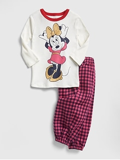 babyGap &#124 Disney Minnie Mouse フランネル パジャマセット