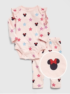babyGap &#124 Disney Minnie Mouse ボディシャツセット