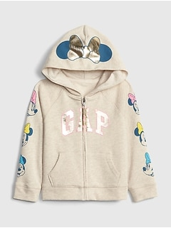 babyGap &#124 Disney Minnie Mouse Gapロゴ スウェットパーカー