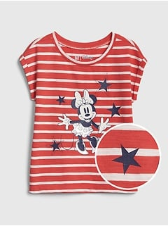 babyGap &#124 Disney Minnie Mouse 半袖Tシャツ (幼児)