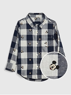 babyGap | Disney Mickey Mouse チェックシャツ