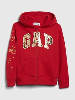 GapKids | Disney Minnie Mouse Gapロゴスウェットシャツ
