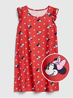 GapKids | Disney Minnie Mouse ひらひらパジャマワンピース